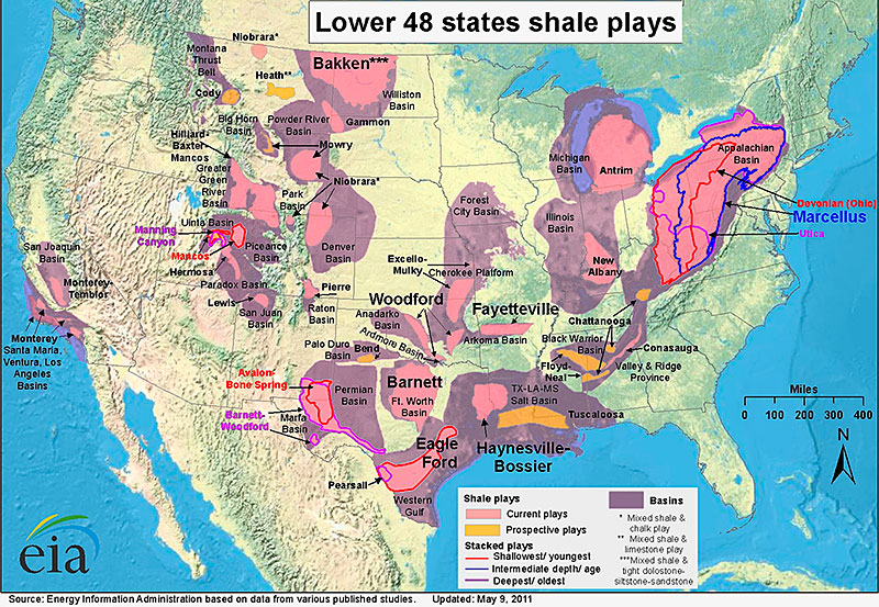 Shale Gas Map Shale Basins Unconventional Gas Reserves Shale Gas